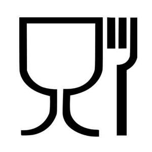 4PACK simbolo bicchiere e forchetta