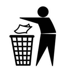 4PACK simbolo uomo che butta nel cestino