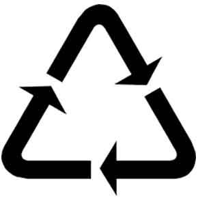 4PACK simbolo riciclaggio tre frecce