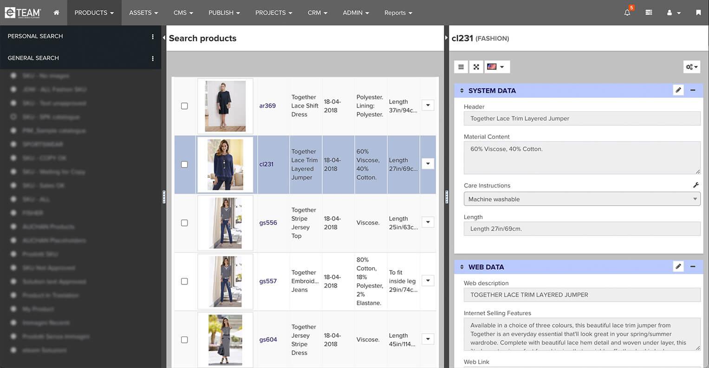 Database prodotti completo e integrato per e-commerce e web
