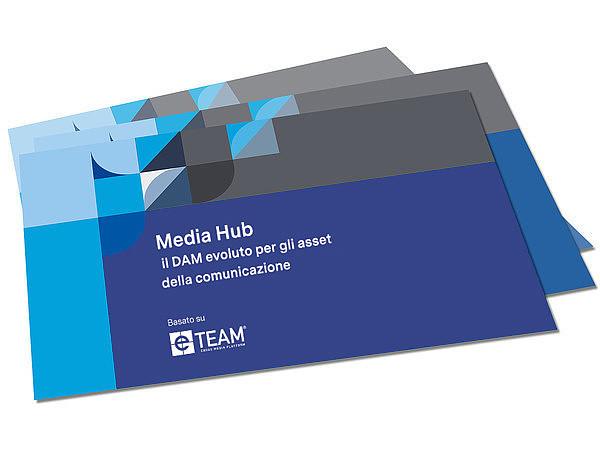 Brochure del software per il media hub
