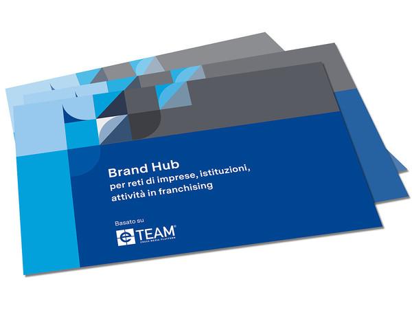 Brochure del sowftare per il brand management